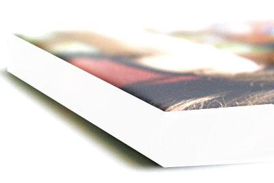Tela con telaio con bordo bianco