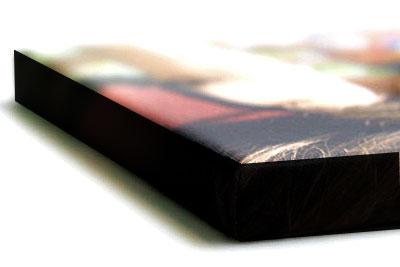 stampa su tela con telaio con bordo nero