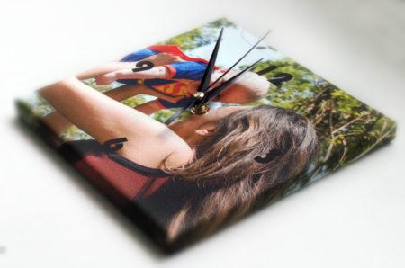 Orologio su tela con telaio con foto