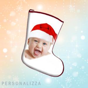 calza befana personalizzata con foto e frasi