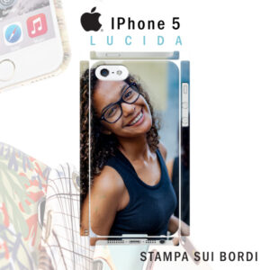 cover rigida lucida personalizzata iPhone 5