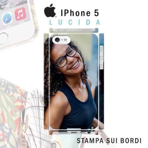 cover rigida lucida personalizzata iPhone 5