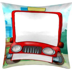 Cuscino personalizzato per bambino con macchinina