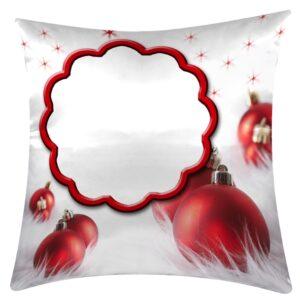 cuscino personalizzato con foto a tema natalizio