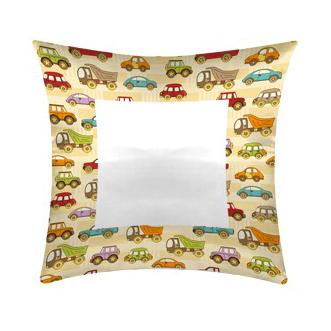 cuscino personalizzato per bambini con fantasia macchinine