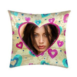 cuscino personalizzato cuore viola