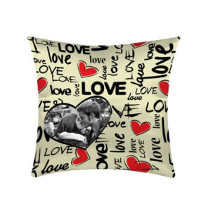 cuscino personalizzato i love you con foto