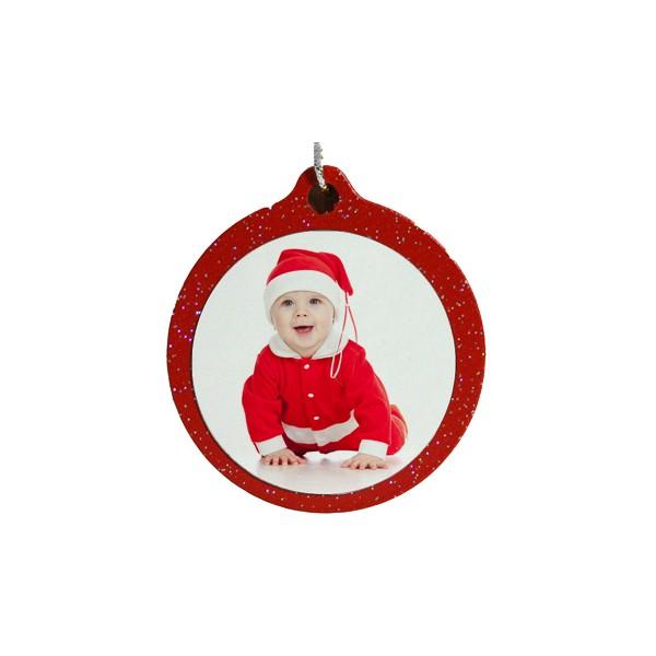 Palla Di Natale Con Foto Digitali.Pallina Natale Glitter Personalizzata Con Foto Acdigitale