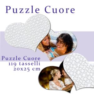 foto puzzle cuore personalizzato 20x25
