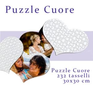 foto puzzle personalizzato a forma di cuore 30x30 232 tasselli
