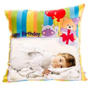 cuscino personalizzato buon compleanno per bambini