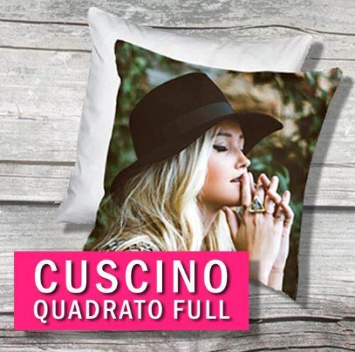 Cuscino personalizzato quadrato con stampa a pieno formato