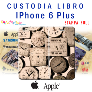 cover custodia a libro personalizzata per iPhone 6 plus