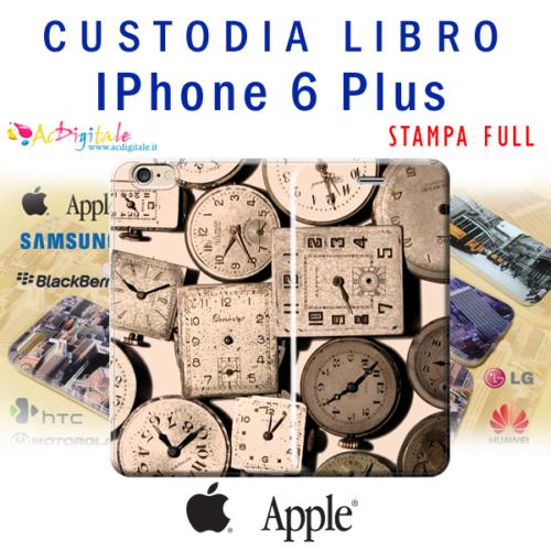 cover custodia a libro personalizzata per iPhone 6 plus