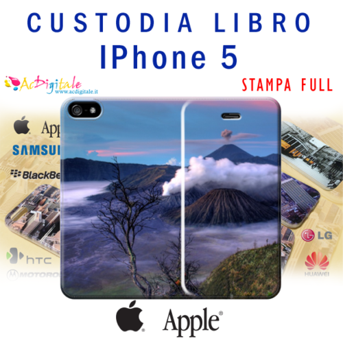 custodia a libro per iPhone 5/5s