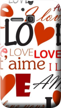Cover personalizzata One Touch MPop 5020D  amore love