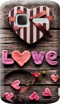 Cover personalizzata alcatel con foto love