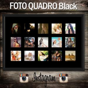 foto quadro composito nero con le foto di instagram