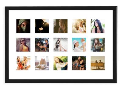 poster da collezione con 15 foto instagram