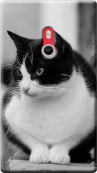 cover personalizzata nokia gatto bianco nero