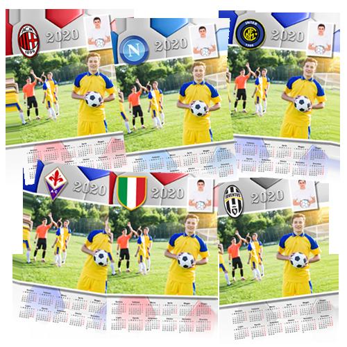 Calendario personalizzato calcio della tua squadra del cuore