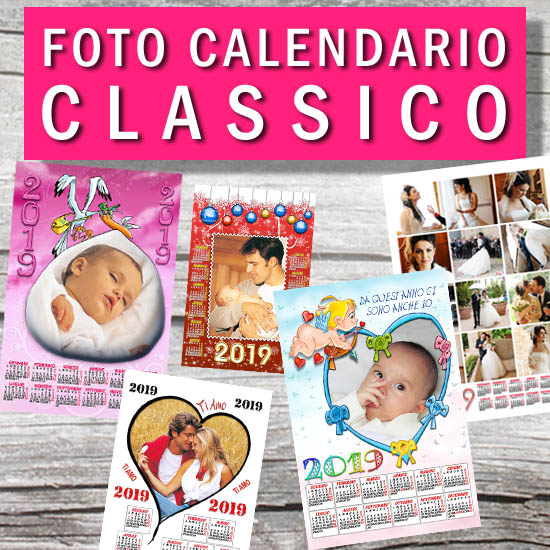 Calendario Fotografico Personalizzato.Foto Calendario Personalizzato 2019