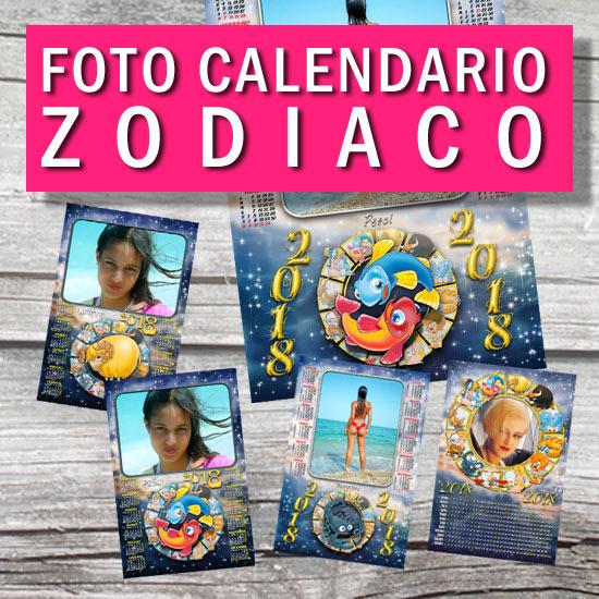 Calendario Zodiaco.Calendario Personalizzato Zodiaco