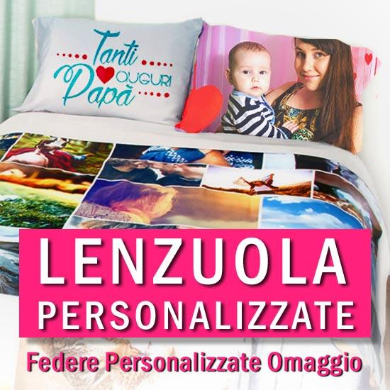 Molto Lenzuolo Personalizzato con federe omaggio | Cover personalizzate  CS07