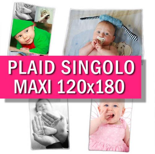 Plaid personalizzato con foto maxi 120x180 cm