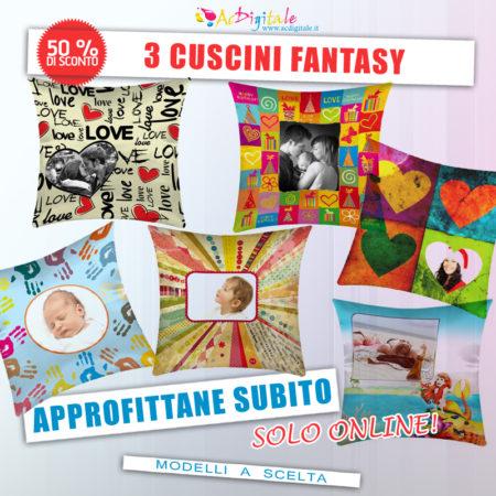 offerta cuscini personalizzati con foto fantasy