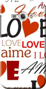 Cover personalizzata Galaxy J1 ACE love