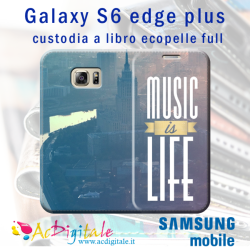 cover a libro personalizzata S6 Edge Plus