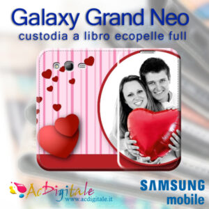 cover custodia a libro personalizzata galaxy grand neo