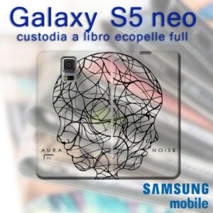 cover a libro personalizzata Galaxy S5 neo