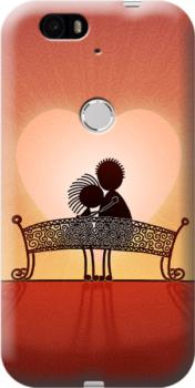 Cover personalizzata Nexus 6P cuore amore