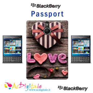 cover personalizzata Blackberry Passport Silver edition