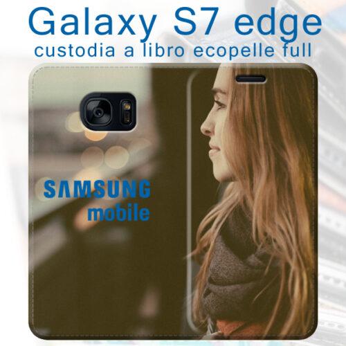 custodia a libro personalizzata galaxy S7 edge