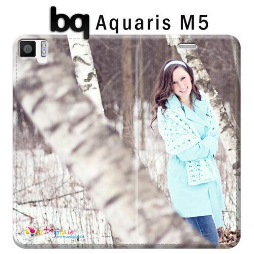custodia a libro personalizzata Aquaris E5s bq