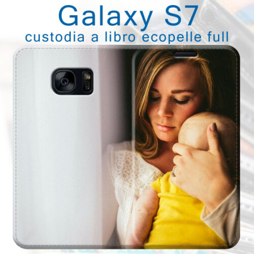 Custodia a libro personalizzata galaxy S7