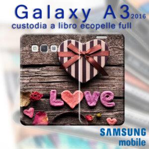 custodia libro personalizzata galaxy A3 2016