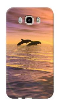 cover personalizzata Galaxy J7 2016 con delfini