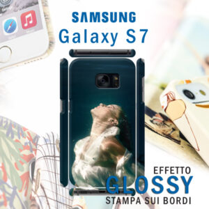 cover personalizzata rigida lucida Galaxy S7