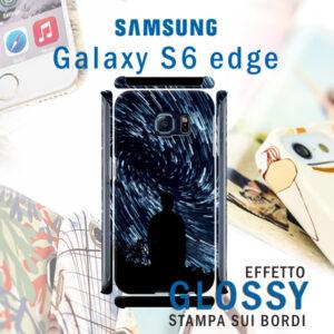 cover personalizzata rigida lucida per galaxy S6 edge