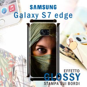 cover personalizzata galaxy S7 edge rigida con stampa sui bordi lucida