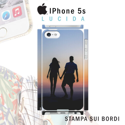 cover personalizzata rigida lucida iPhone 5s