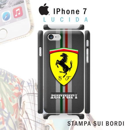 cover iPhone 7 personalizzata rigida lucida