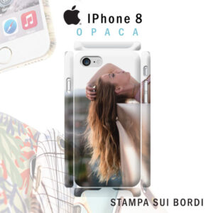 cover personalizzata rigida opaca per iPHone 8