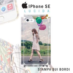 cover personalizzata rigida iPhone SE lucida