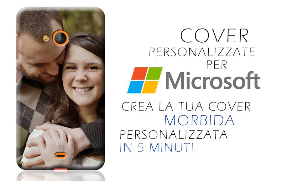 Cover personalizzate Microsoft con foto e frasi
