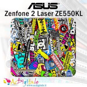 custodia a libro personalizzata Zenfone 2 Laser ZE550KL
